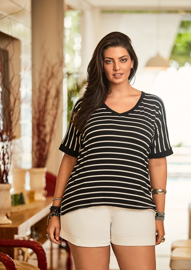 blusa listrada preto e branco