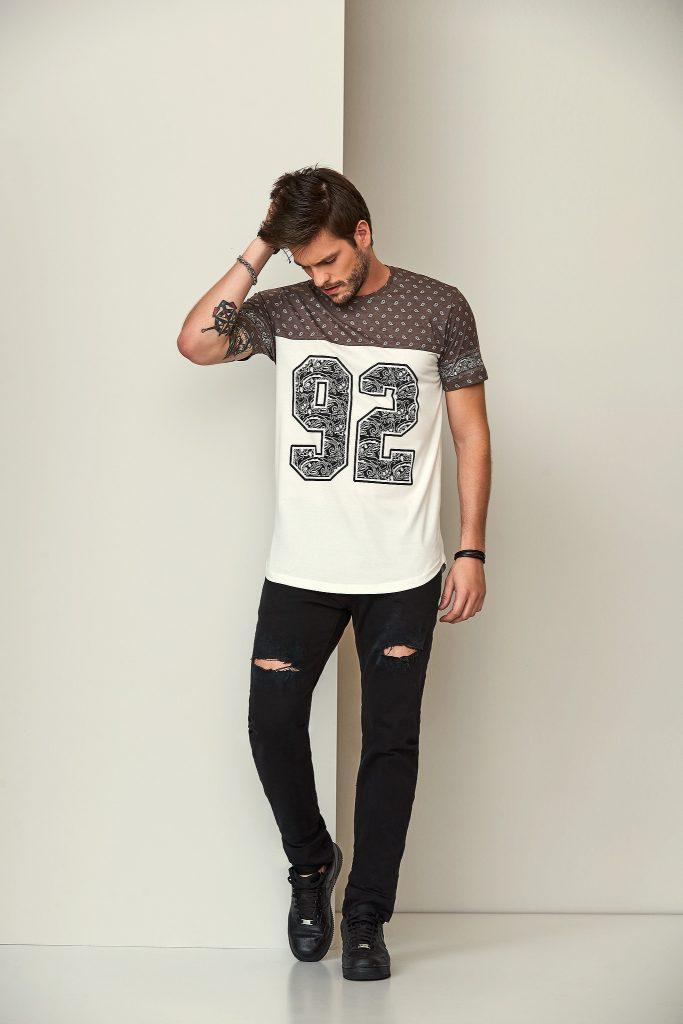 camisa masculina com números