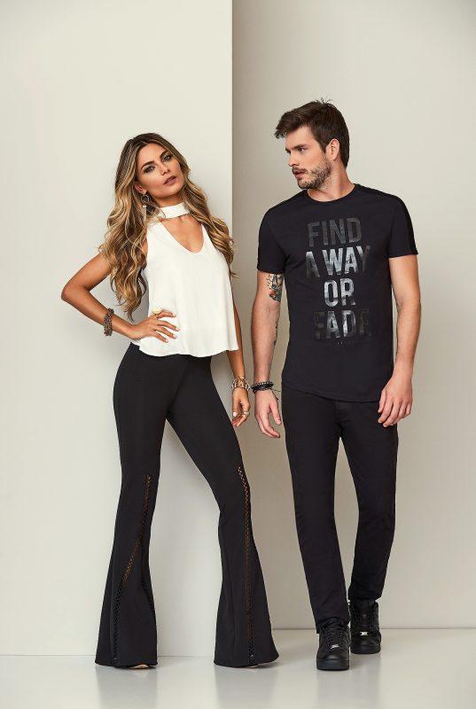 roupas femininas e masculinas