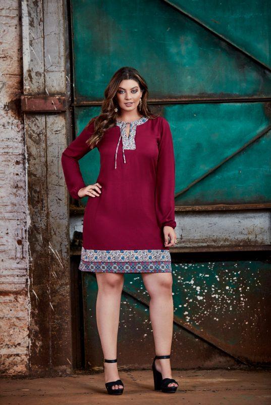 vestido para o inverno moda plus size