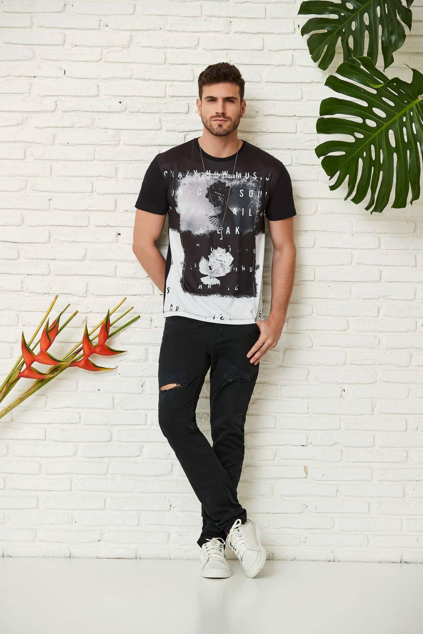 roupas masculinas no estilo rock