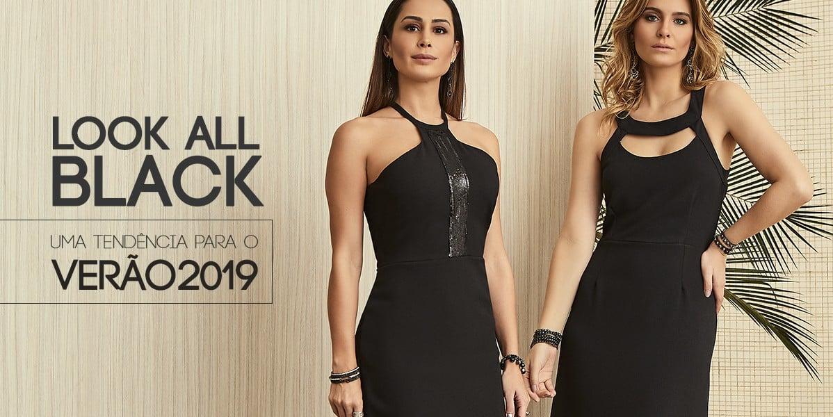 look all black: uma tendência para o verão 2019