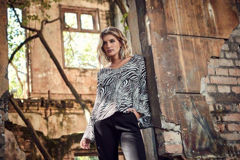 Tendência de inverno 2019: blusa manga longa animal print