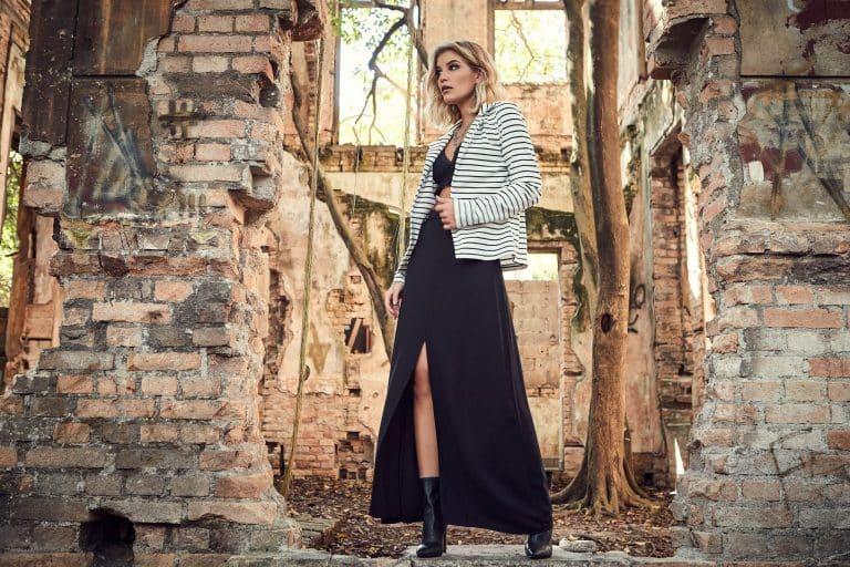 Tendência de inverno 2019: casaco com listras
